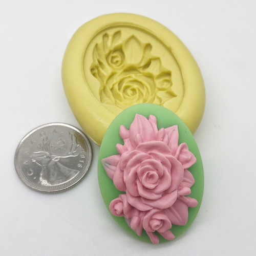 Rose Flower Cameo Mold  Silicone