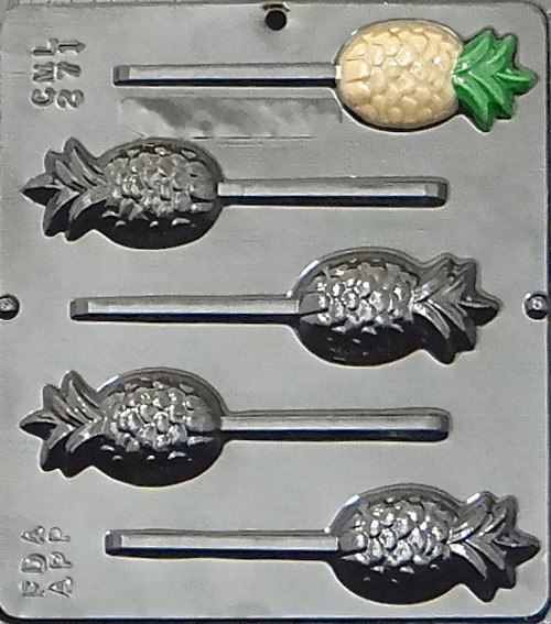 Pineapple Lollipop Chocolate Candy Mold