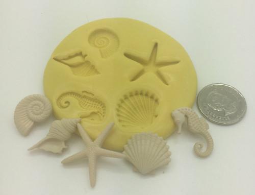 Sea Shell New  Silicone Mold Set