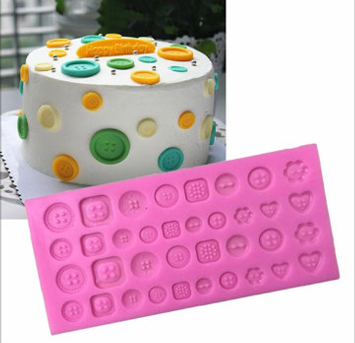 New Large Button  Silicone Mold -PM111