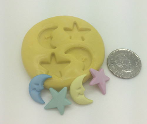 Moon and Stars Silicone Mold Set