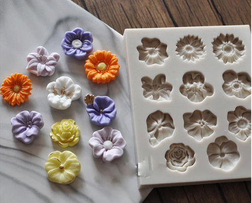 Assorted FLower Mold PM389