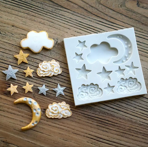 Moon Cloud Star Mold  PM331
