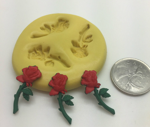 Stem  Rose Set   XS Silicone Mold