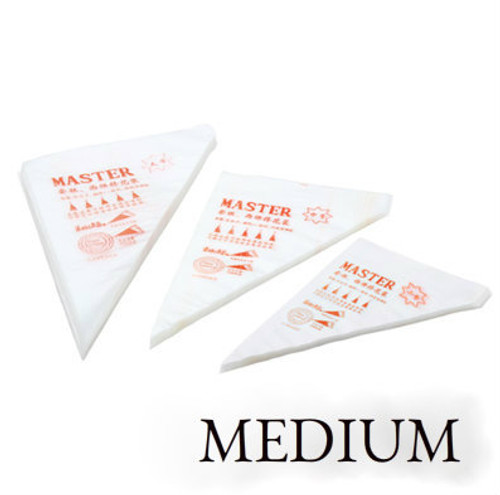 Master Medium Tipless Disposable pipping bag  100pc