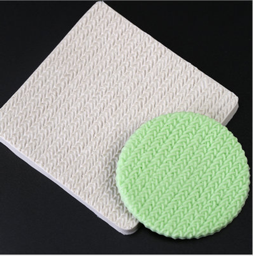 Knit/ Weave  Impression  Silicone Mold-104