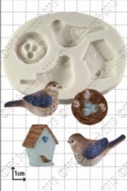 Bird House Silicone Mold  PM252