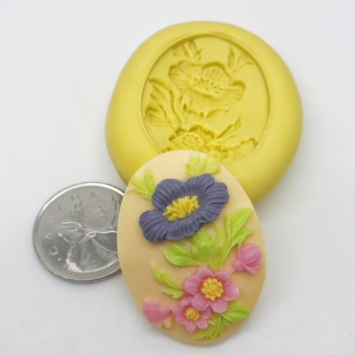 Flower Bunch  Cameo Silicone Mold