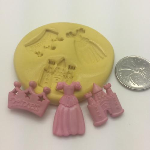 Princess Small  Silicone Mold set