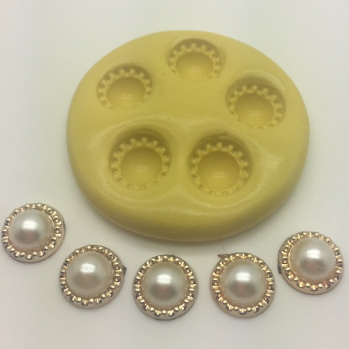 Fancy Button  Silcione Mold