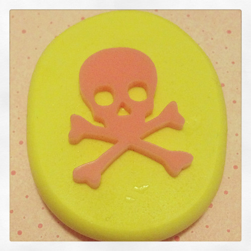 Skulls Bones Posion Danger Mold Silicone