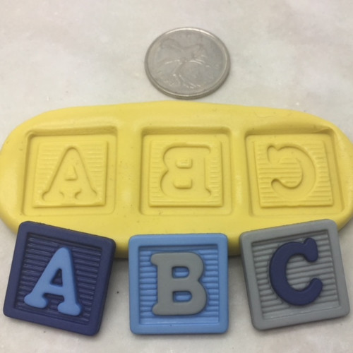 A B C BAby  Block  Silicone  Mold
