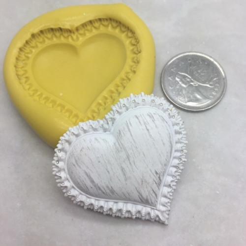 Heart Puffy  Silicone Mold