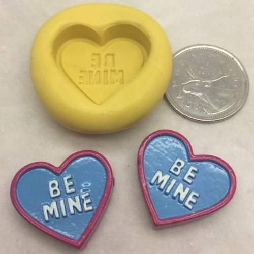 """Heart Conversation """"Be Mine""""  Silicone Mold"""