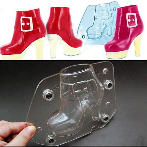 Womens High heel  Shoe Boot Chocoloate Mold