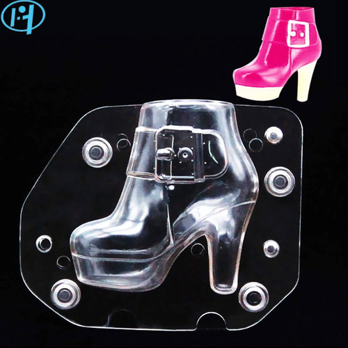 Womens High heel  Shoe Boot Chocoloate Mold