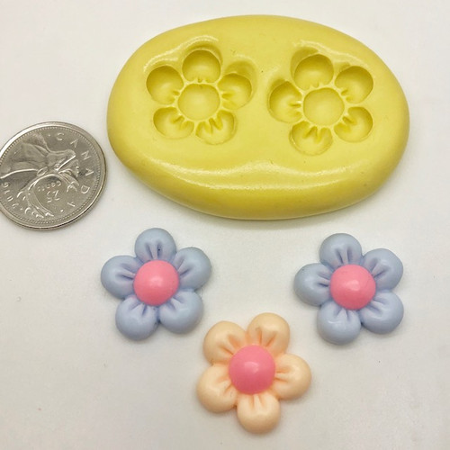 Flower puffy Daisy  Silicone Mold