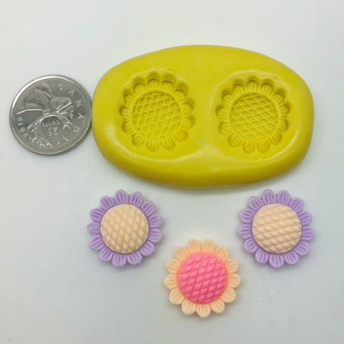 Sunflower Cute  Silicone Mold