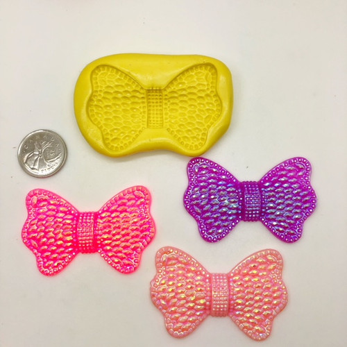 Bow Tie Large  Fancy Silicone Mold