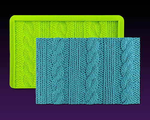 Rib & Cable Knit Simpress  by Marvelous Molds