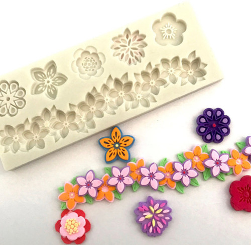 Flower border Silicone Mold PM484