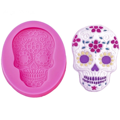 Skull day of the dead  Silione Mold