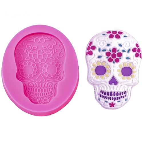 Skull day of the dead  Silione Mold PM640