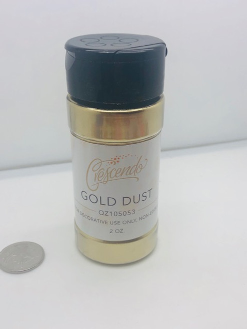2oz LARGE Size Crescendo  Gold Dust
