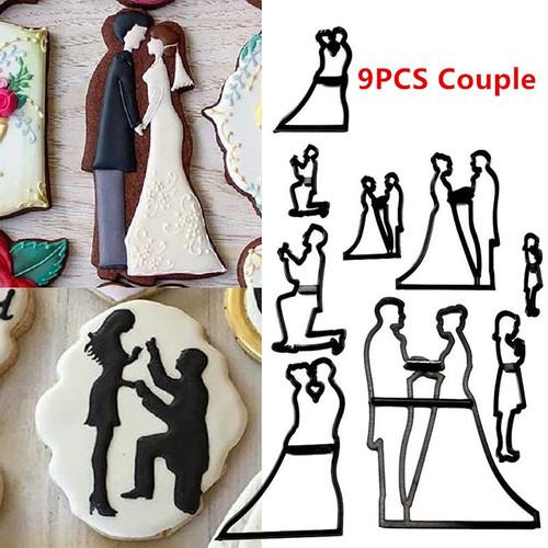 9PC Couple Cutter  set