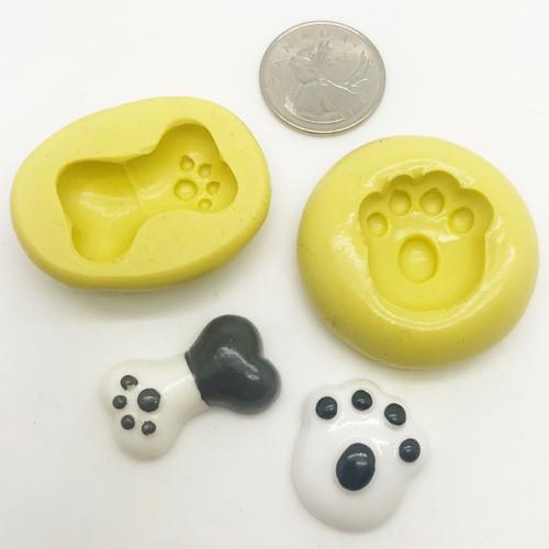 Dog Paw and bone  Animal - z173