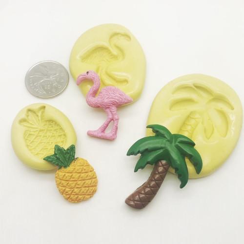 Flamingo , Palm and Pineapple Mold Set