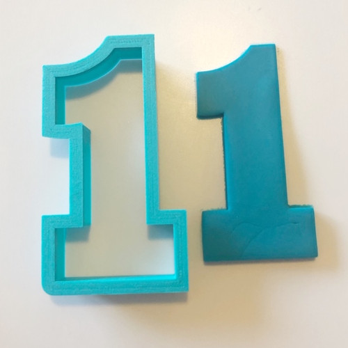 "Number One 1 Large 4"" Cookie/ Fondant cutter"