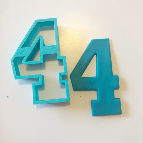 """Number Four 4  Large 4"""" Cookie/ Fondant cutter"""