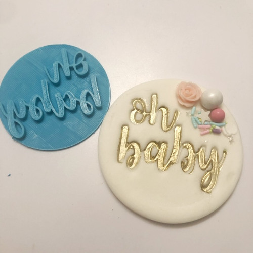 Oh baby Fondnat Fondant /Cookie Embosser