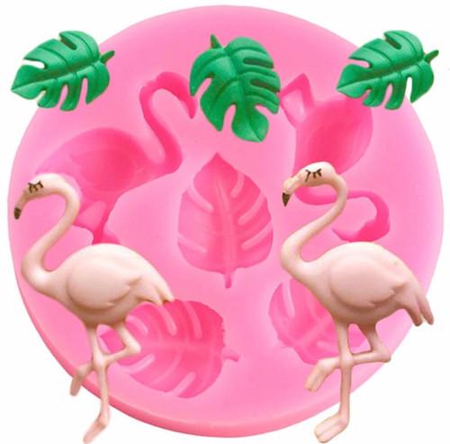 Mini Flamingo And Plam Mold PM547