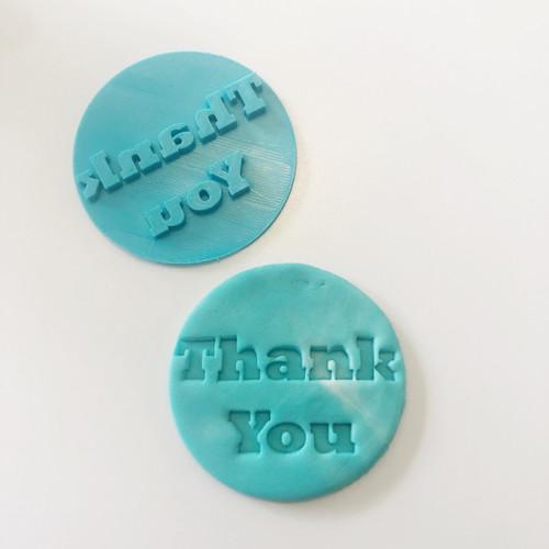 Thank You  Fondant /Cookie Embosser