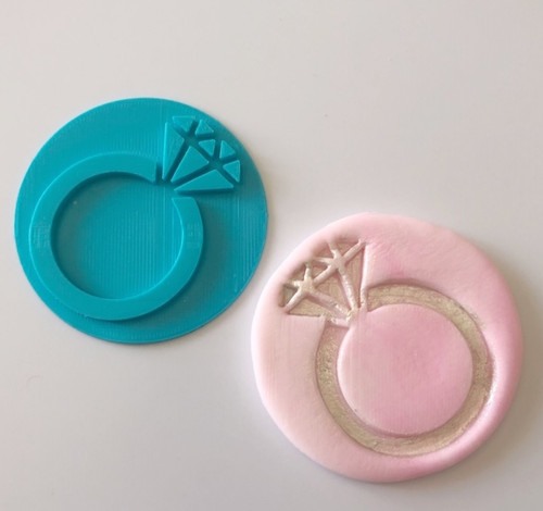 Diamond Wedding Ring  Fondant /Cookie Embosser