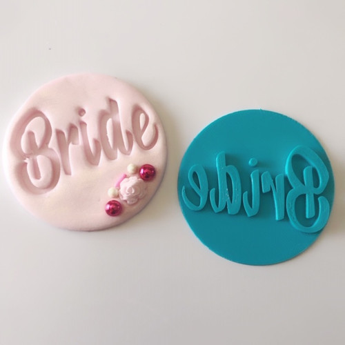 Bride Word  Fondant /Cookie Embosser