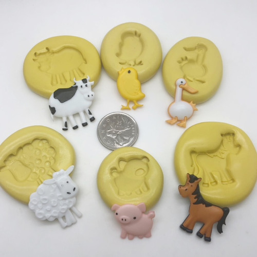 Farm Animal Set  Silicone