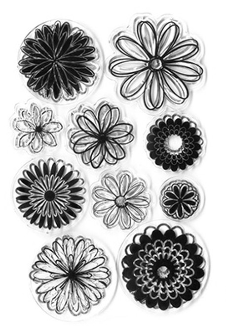 Sunshine Daisies -Clear stamps