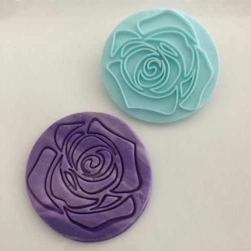 Rose Flower Thin Lines  Fondant /Cookie Embosser