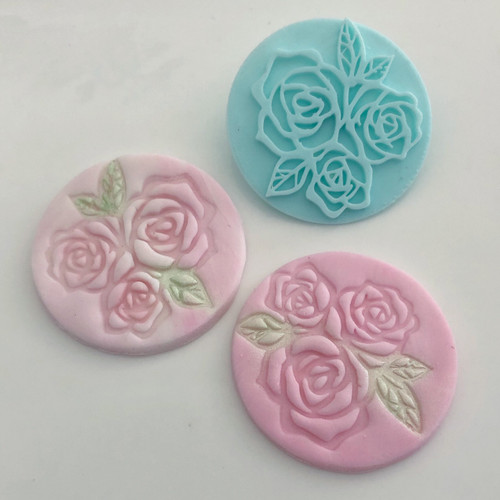 Rose Flower with leaves   Fondant /Cookie Embosser