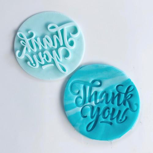 Thank You Fancy Fondant /Cookie Embosser