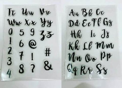 Upper and Lower Case set Stamps