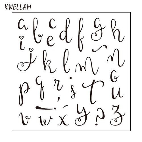 Lowercase  script  Letters clear stamps