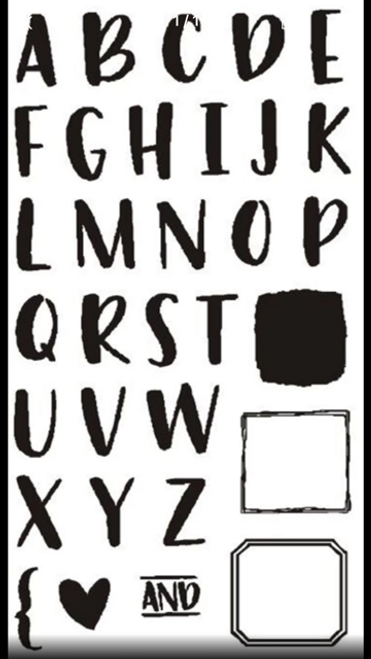 Uppercase Alphabet /  Letters clear stamps