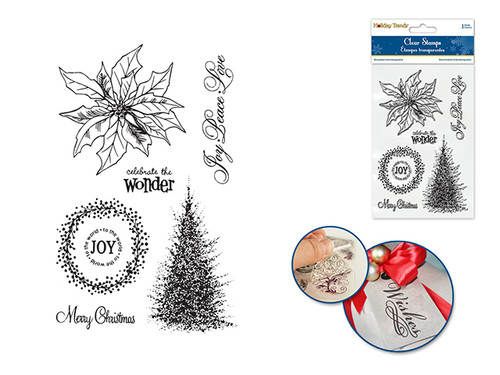 Holiday Clear Stamps- Poinsettia
