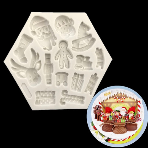 santa  mixed  Christmas silicone mold  SE37