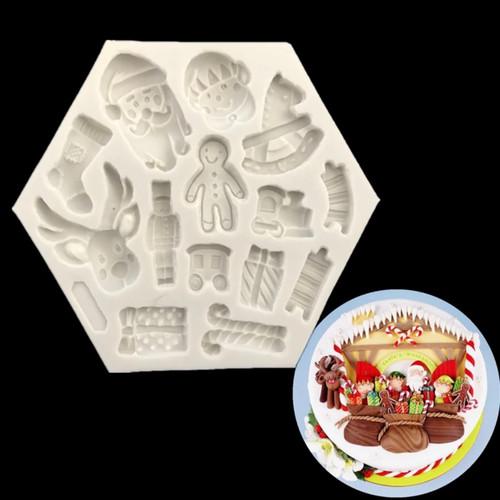 santa  mixed  Christmas silicone mold