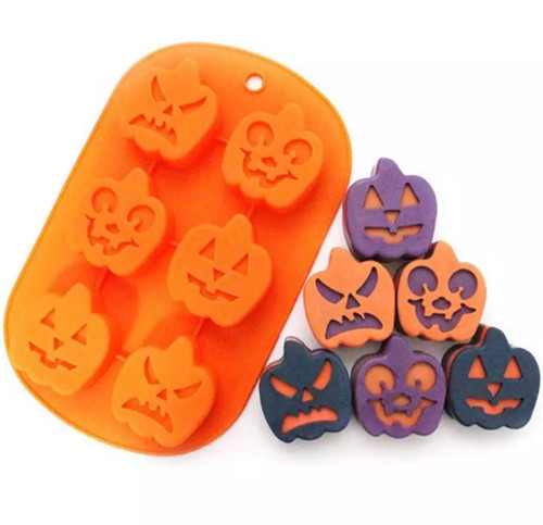 Halloween pumpkin  silicone mold baking tray (fits rice crspy and oreos)